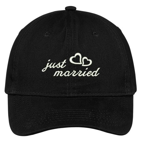 Stone Column Caps (Trendy Apparel Shop Just Married Embroidered Soft Cotton Adjustable Cap Dad Hat )