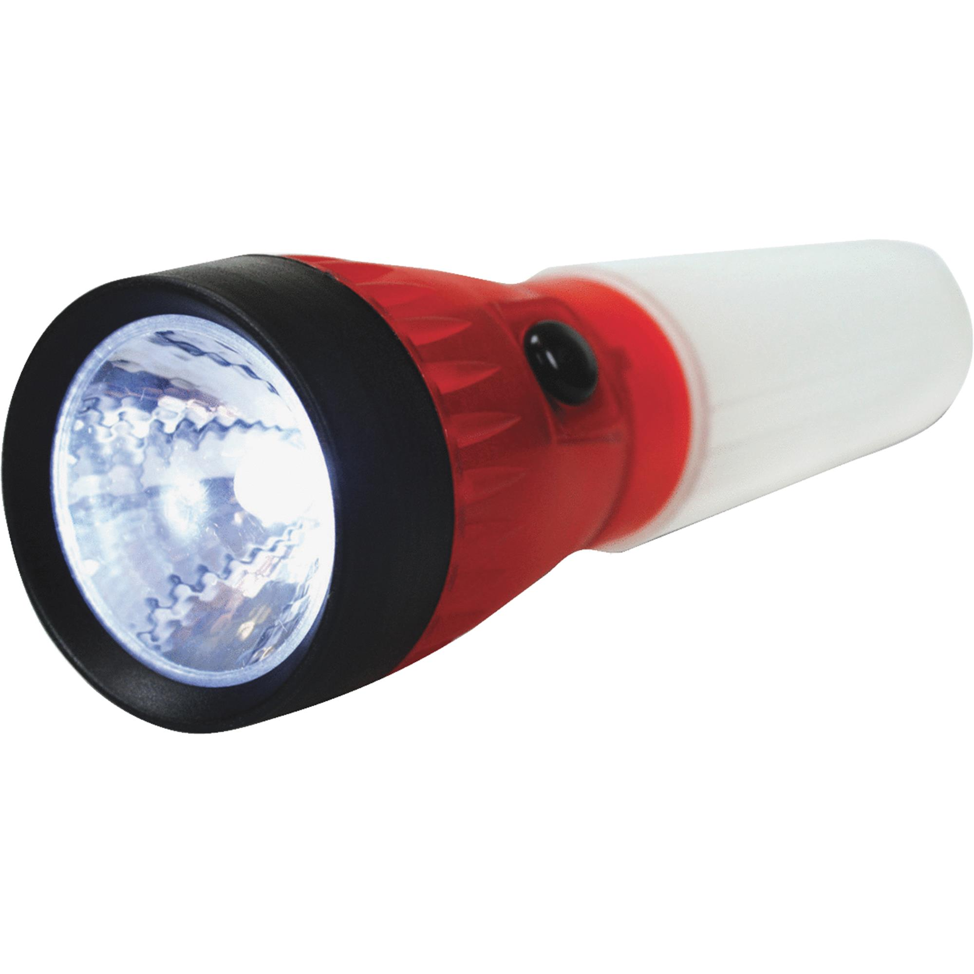 Life Gear 4 in 1 LED Glow Flashlight with Storage