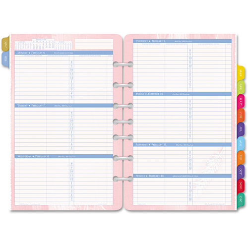 "Day-Timer Flavia Dated 2-Page-per-Week Organizer Refill, 5.5"" x 8.5"", 2014"