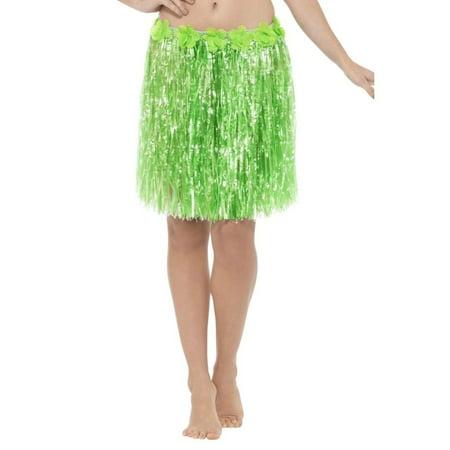 Hawaiian Hula Skirt Adult Costume Neon Green - (Gilligan's Island Gilligan Adult Costumes)