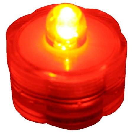 BlueDot Trading Submersible Tea Lights, Orange, 24-Pack](Submersible Tea Lights)
