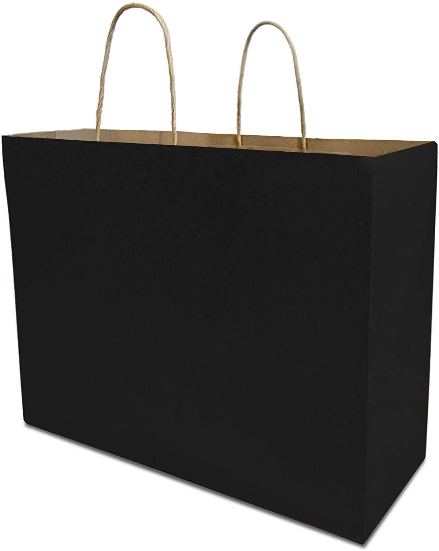 Treat Bags Black Stripe Party Favor Bags 25 Pack - Goodie Bags Mini Wedding Favor Bags