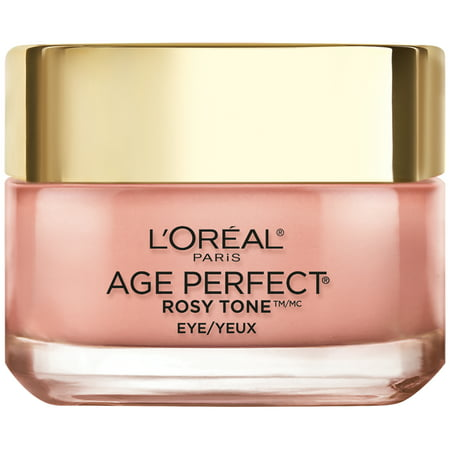 L'Oreal Paris Age Perfect Rosy Tone Anti-Aging Eye Brightener Paraben Free, 0.5
