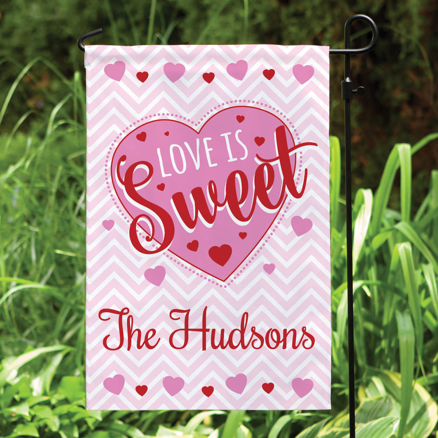 Personalized Love Is Sweet Yard Flag