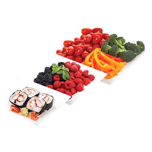 Fit & Fresh 3-piece Square Serving Plate