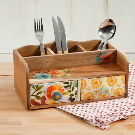 The Pioneer Woman Pioneer 10.63-Inch Flatware Caddy (Buffet Caddy)