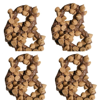 Premier Milk Chocolate Dipped Pretzels With Peanut Butter Chips, (Pack of 28)