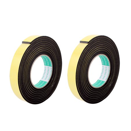 - 2 Pcs 25mmx4mm Single Sided Sponge Tape Adhesive Sticker Foam Glue Strip 10Ft