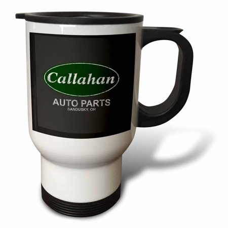 - 3dRose Callahan Auto Parts - Travel Mug, 14-ounce, Stainless Steel