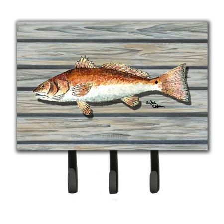 Caroline 39 s treasures fish leash holder and key hook for Fish on a leash