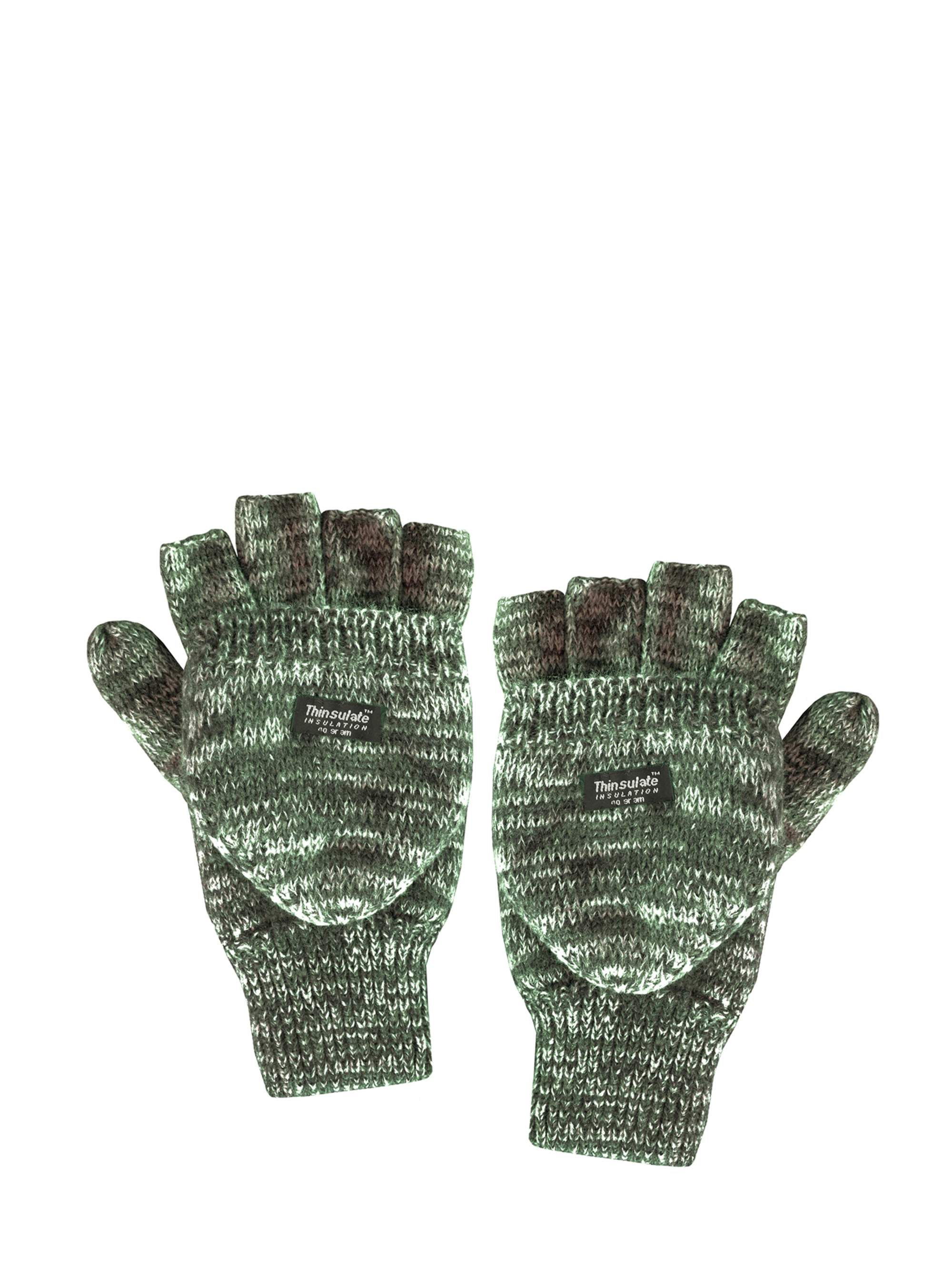 QuietWear Knit Flip Gloves with 40 Gr Thinsulate by Overstock