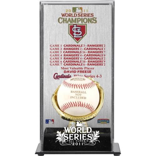 St. Louis Cardinals Fanatics Authentic 2011 World Series Gold Glove Baseball Display Case - No Size