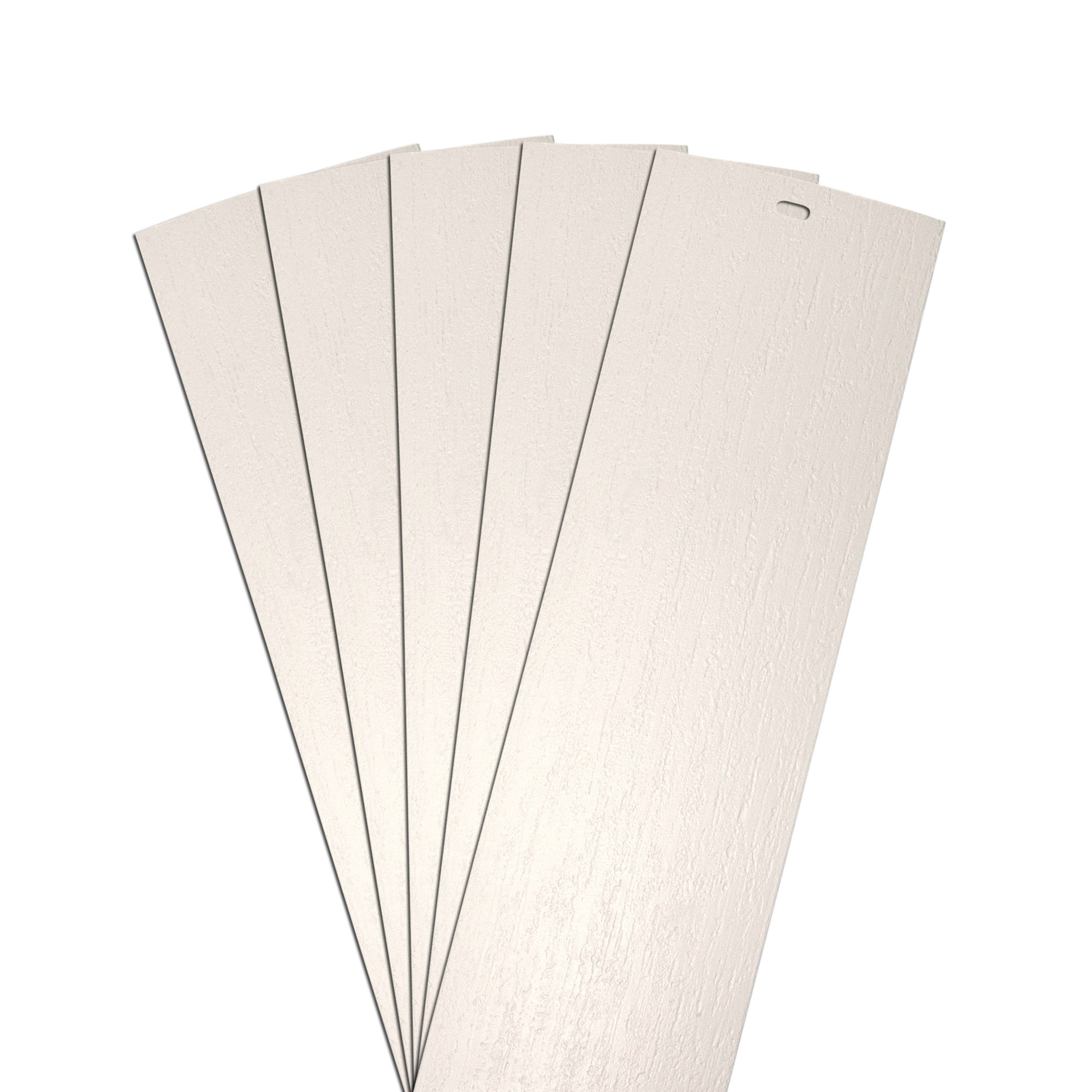 Dalix Rustic Vertical Blinds Slats Replacement Set Ivory