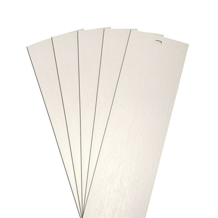 DALIX Rustic Vertical Blinds Slats Replacement Set Ivory 34.5