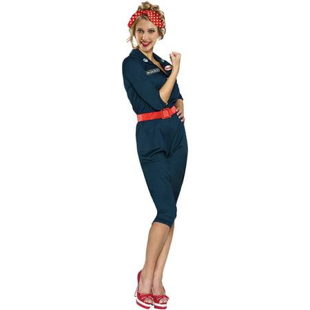 Rosie The Riveter Adult Halloween Costume - Quick Last Minute Halloween Costumes For Adults