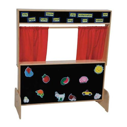 Kid's Play Deluxe Puppet Theater w Flannelboard