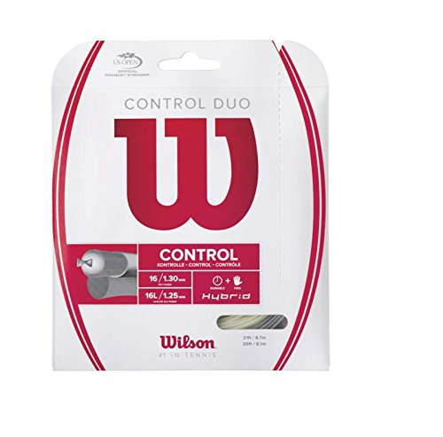 Control Duo Tennis String, Blend of NXT Power and Luxilon ALU Power By Wilson Ship from US
