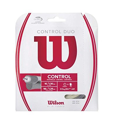 Control Duo Tennis String, Blend of NXT Power and Luxilon ALU Power By Wilson Ship from