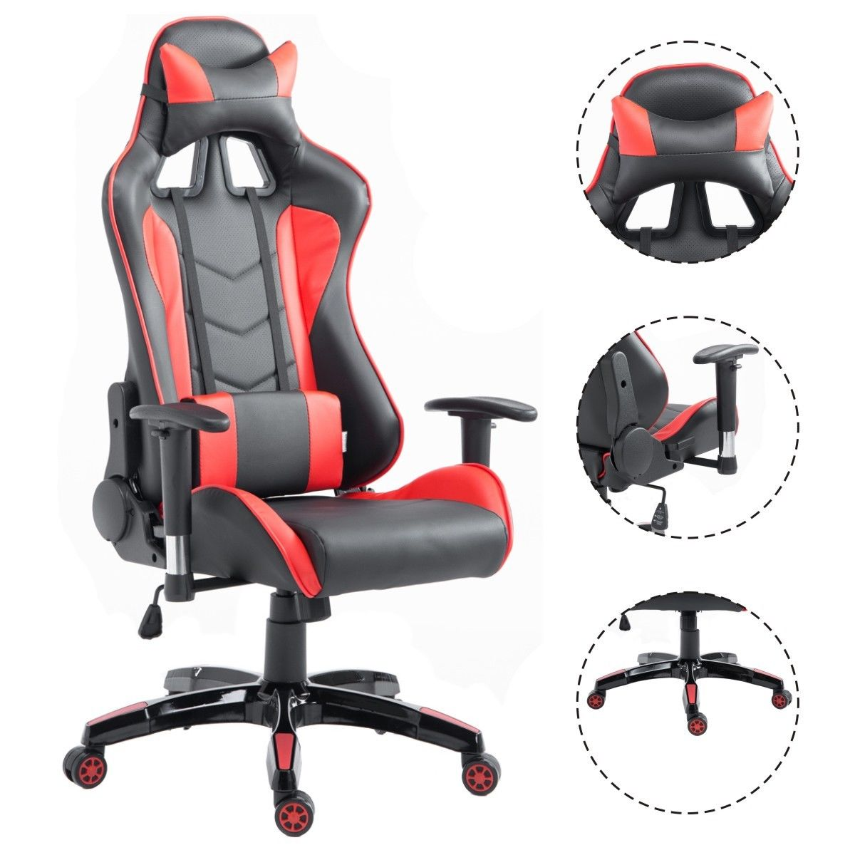 Costway High Back Executive Racing Reclining Gaming Chair Swivel PU Leather Office Chair  sc 1 st  Walmart & Costway High Back Executive Racing Reclining Gaming Chair Swivel ... islam-shia.org