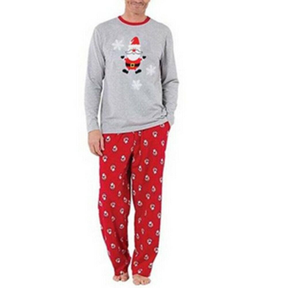 Christmas Family Pyjamas Set Xmas Letters Baby Kids Adult Sleepwear Nightwear