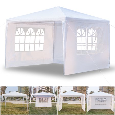 Top Knobs 10 x 10 Easy Set-up Canopy Tent Commercial Instant Tents Market stall with 3 Removable Sidewalls and Portable Bag (White)