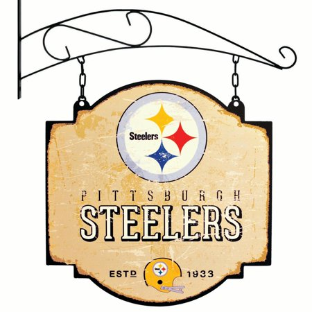 Nfl Pub Sign - Pittsburgh Steelers Official NFL 16 inch x 16 inch  sign by Winning Streak