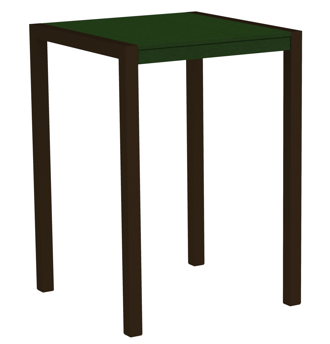 POLYWOOD 8002-16GR MOD 30' Bar Table in Textured Bronze / Green