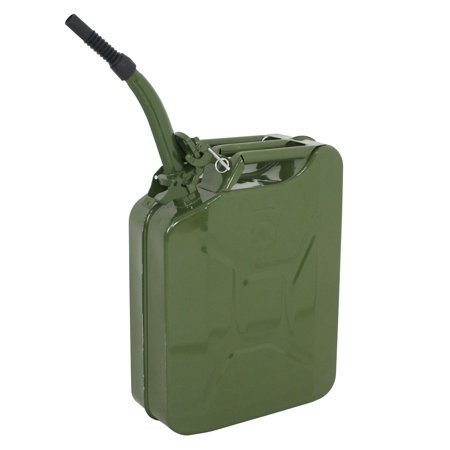 Zeny 5 Gallon 20L Jerry Can Gasoline Fuel Can Steel Gas Tank Emergency Backup Green