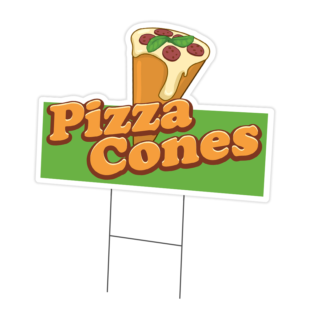 Pizza Yard Sign /& Stake outdoor plastic coroplast window