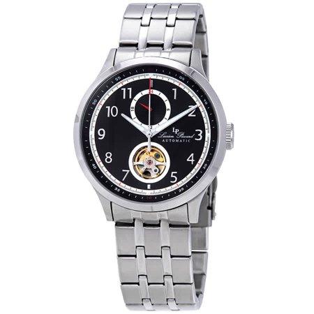 - Lucien Piccard Open Heart GMT II Automatic Black Dial Men's Watch LP-28010A-11
