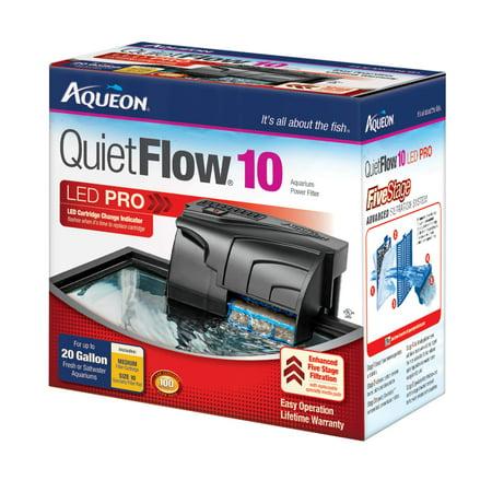 Aqueon QuietFlow LED 10 Filter (10 Gallon Tank Filter)