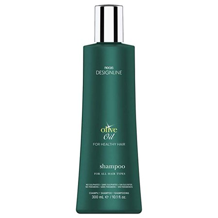 Olive Oil Shampoo, 10.1 oz - DESIGNLINE - Fortified with Olive Oil and Rich in Vitamins E and K to Help Protect Hair from Environmental Damage