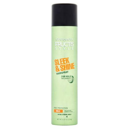 Shine Spray - (2 Pack) Garnier Fructis Style Sleek and Shine Anti-Humidity Hairspray 8.25 OZ