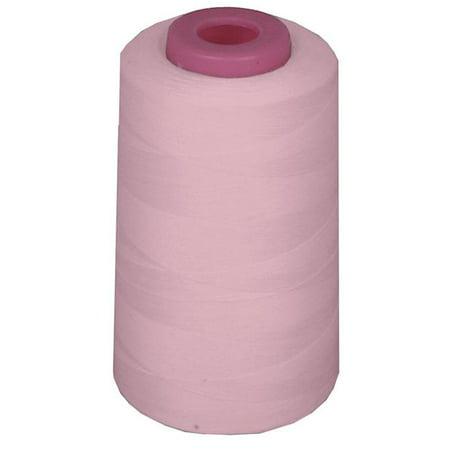 LA Linen ThreadLhtPinkA132 6000 Yards 100 Percent Polyester Cone Serger Thread, Light Pink - A132