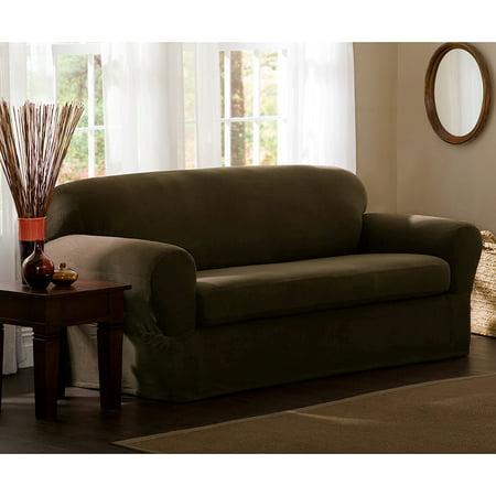 Maytex Reeves Polyester Spandex Sofa Slipcover Walmart Com