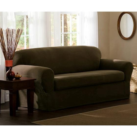 Maytex Reeves Polyester/Spandex Sofa Slipcover - Walmart.com