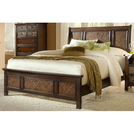 Havana Finish (Sleigh Bed in Havana Brown Finish (Queen - 88 in. L x 66 in. W x 5 in. H))