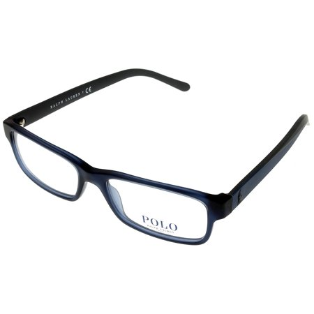 c370fc5df2a Polo Ralph Lauren Prescription Eyewear Frames Unisex Rectangular Blue  PH2132 5525 Size  Lens  Bridge  Temple  53 16 140 31.2 - Walmart.com