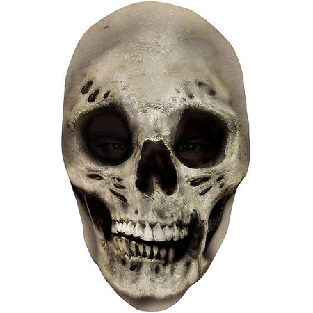 Teen Size Scary Evil Skull Nylon Fabric Costume Mask - Scary Costume For Women