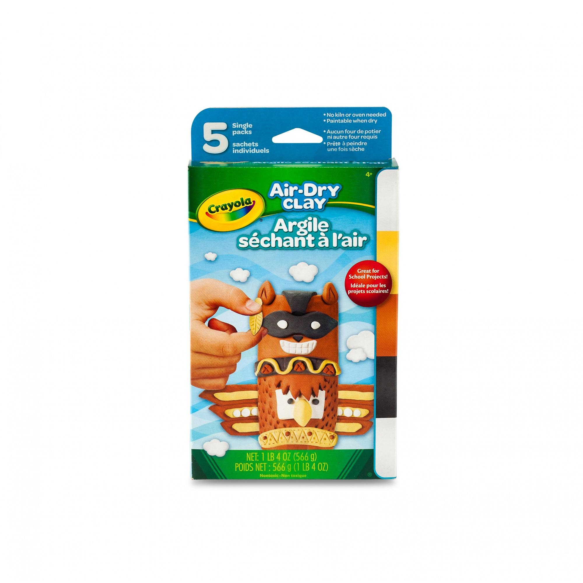 Crayola Air-Dry Clay Neutral Colors Variety Pack, 4 Colors