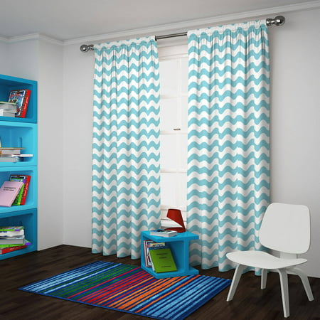 Eclipse Thermaback Blackout Wavy Chevron Curtain Panel