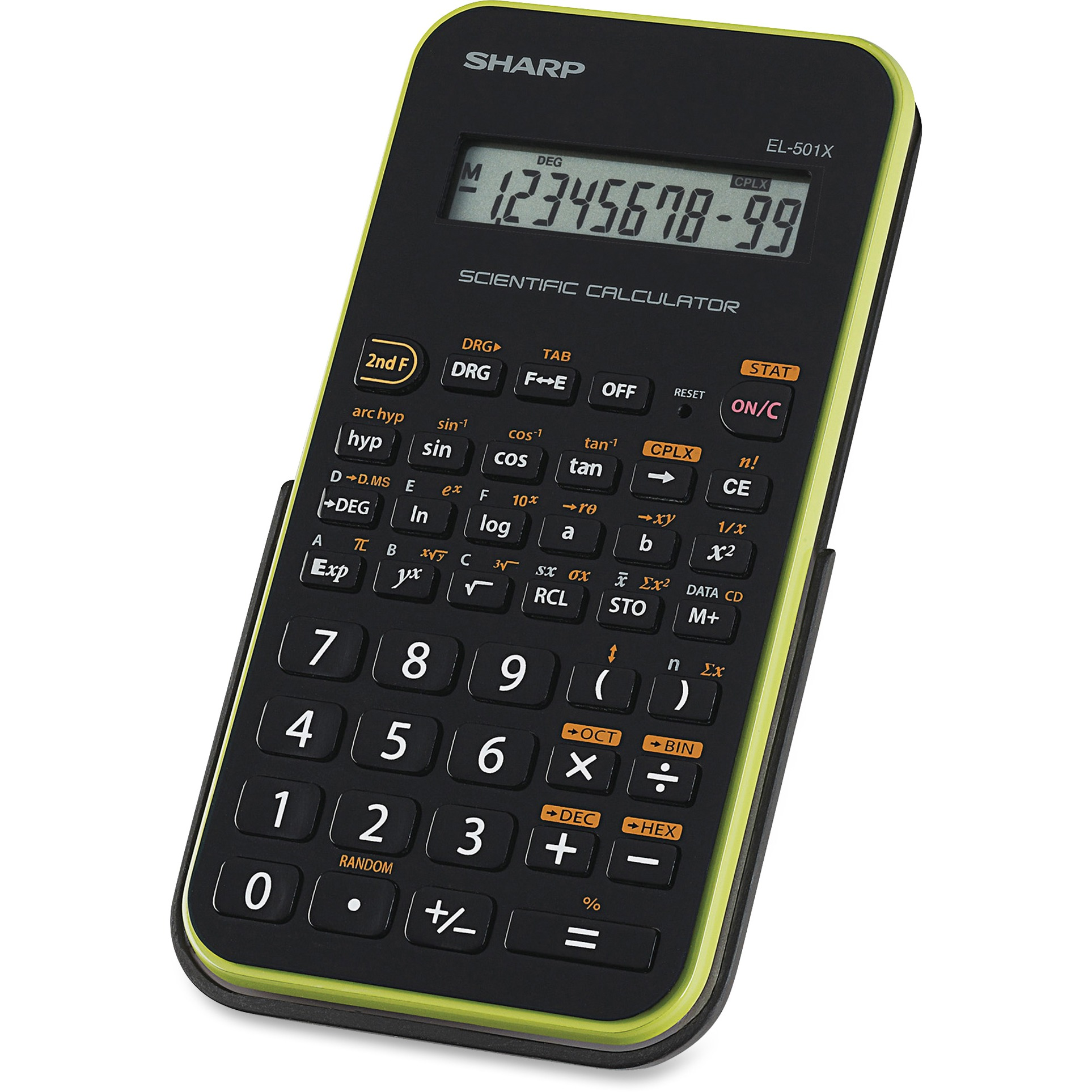 Sharp EL-501XBGR Scientific Calculator, Black