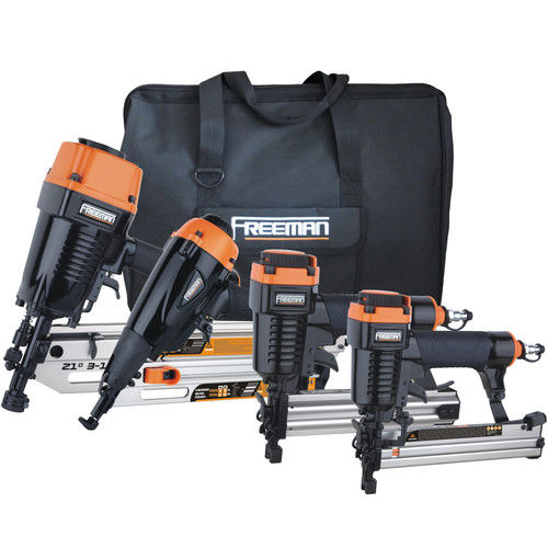 Freeman P4FRFNCB Pneumatic Framing and Finishing 4-Tool Combo Kit