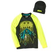 Batman Boys' Raglan Beanie Combo by Generic
