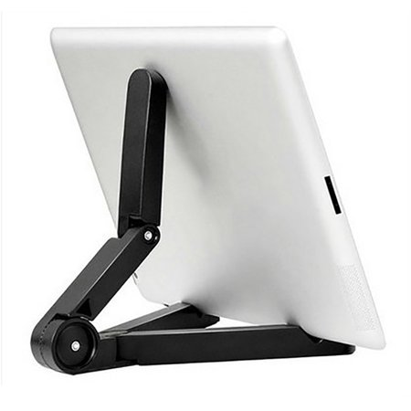 Jeobest 1PC Tablet Stand Holder - 360 Degree Adjustable Rotating Folding Universal Tablet PC Stand Holder Folding Design Lazy Support for iPad Air Mini 1 2 3 4 (Black)