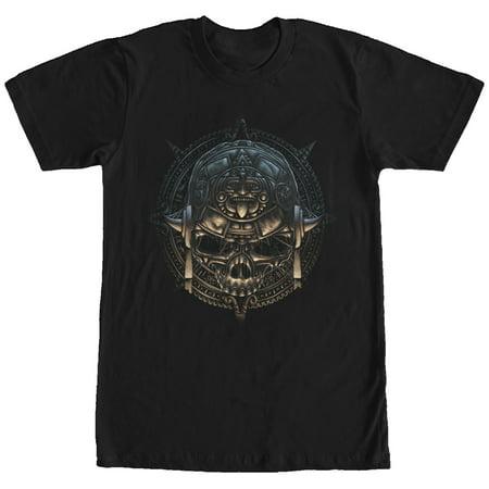 Aztlan Men's Aztec Calendar Skull T-Shirt