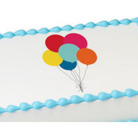 - Balloons Edible Extra Large 8 x 10 Cake Decoration Topper Image