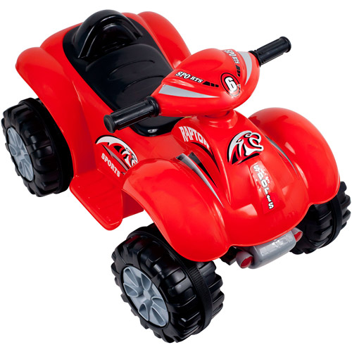 Rockin' Rollers Rally Racer Battery-Powered 4 x 4 ATV Ride-On, Red