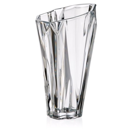 Bohemia Crystal Vase Angle 12h Decorative Clear Crystal Flower