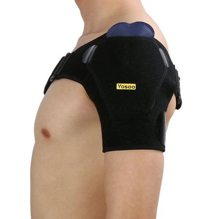 Ejoyous Support d'épaule avec coussinet de pression Support d'épaule respirant pour manchette en rotator - image 10 de 13